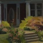 Red Brick, Columns, Garden