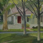 Red Door, Foreground Trees