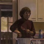 Self-portrait Cooking